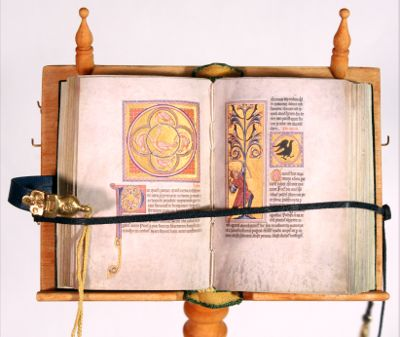 Bestiary Miniature Book on Lectern by Randy Asplund