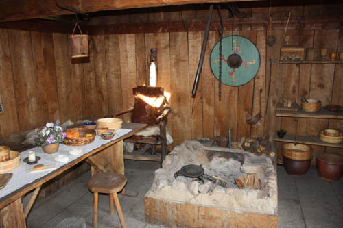 Inside a house in Viking Foteviken