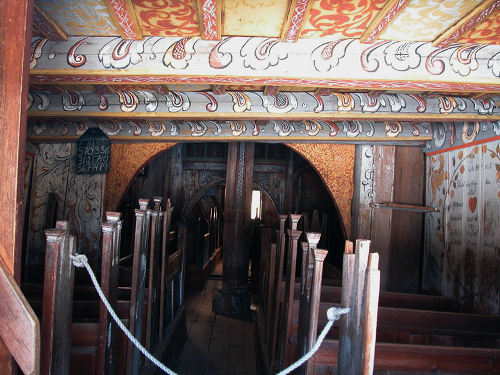 Nore Stave Church inside