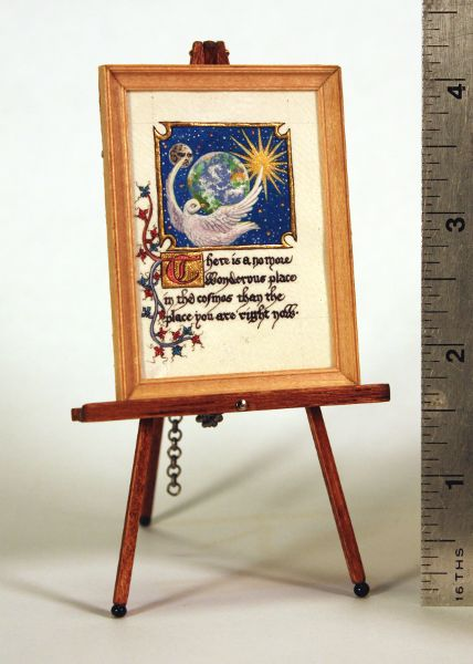 Wondrous Place Illuminated Manuscript Miniature by Randy Asplund
