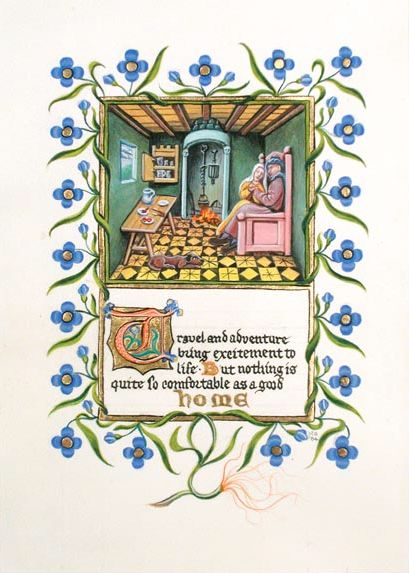 Randy Asplund Home Illuminated manuscript page