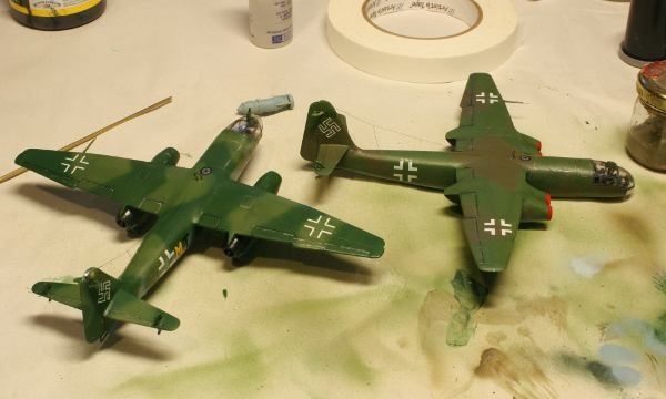 Arado 234 Markings as decal and hand painted swastikas