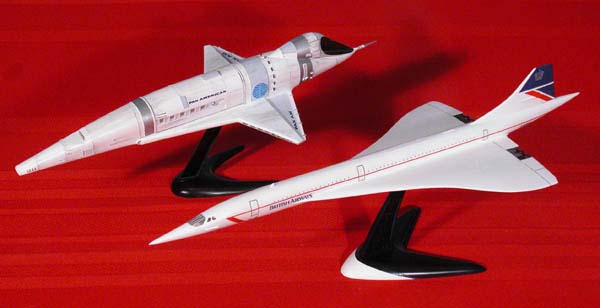 The Pan Am Orion Space Plane Model with Concorde