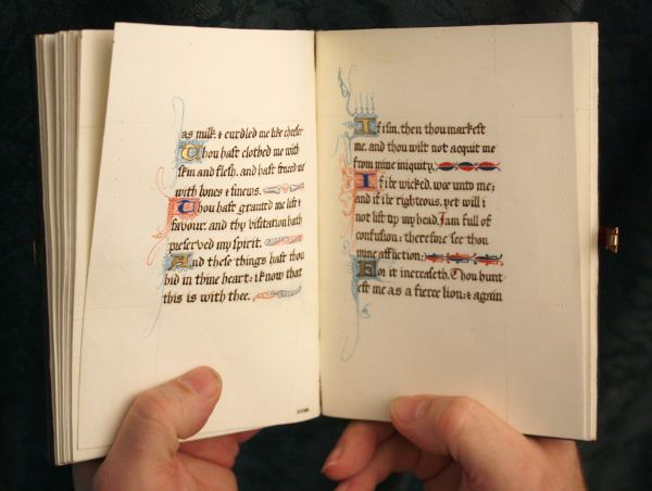 15th c. calligraphy for a contemporary hand made book