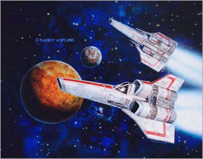BSG Colonial Viper Fighter Cover Painting