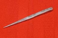 lead/tin metalpoint drawing stylus for illuminated manuscripts